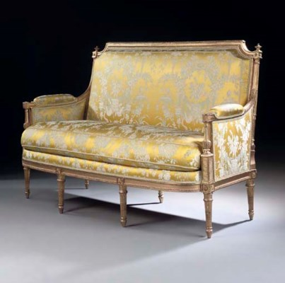 a louis xvi giltwood canape by louis delanois late 18th century christie 39 s. Black Bedroom Furniture Sets. Home Design Ideas
