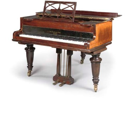 A Late Victorian Rosewood Baby Grand Piano By John