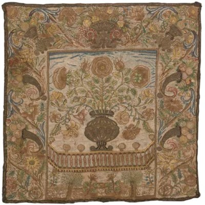 A LOUIS XV EMBROIDERED FIRESCR