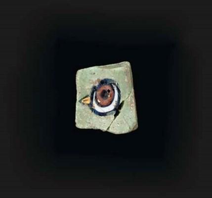 TWO ROMANO-EGYPTIAN MOSAIC GLA