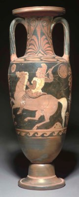 A CAMPANIAN RED-FIGURE NECK AM