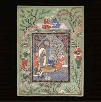 Four illustrations, Iran, 19th