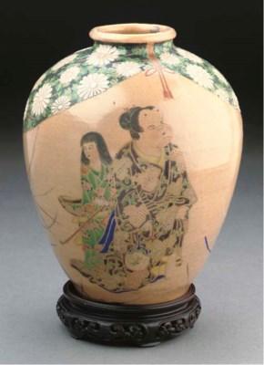 A Japanese Kiyomizu pottery ov