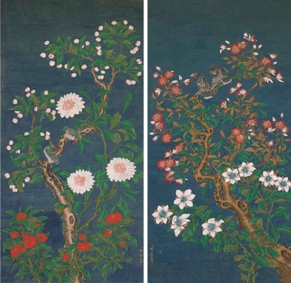 A pair of Chinese paintings, 1