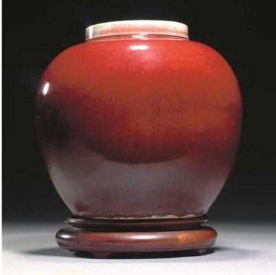 A Chinese flambe glazed ginger