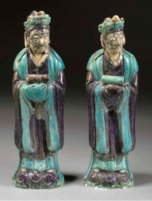 A PAIR OF CHINESE TURQUOISE AN