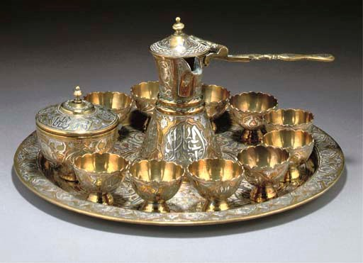 A CAIROWARE COFFEE SERVICE SYR