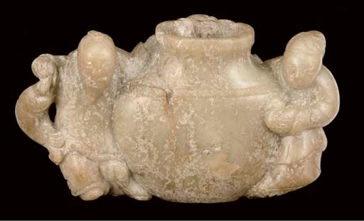 A Chinese calcified celadon ja