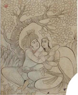 LOVERS IN A LANDSCAPE, SAFAVID