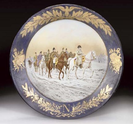 A SEVRES-STYLE FAIENCE CHARGER