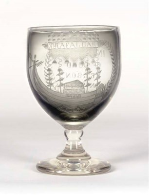 A MID 19TH-CENTURY ETCHED GLAS