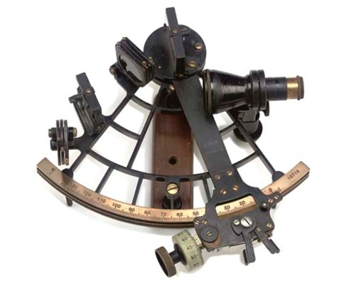 A MICROMETER SEXTANT BY PLATH,
