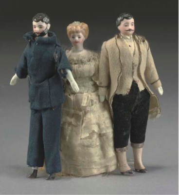 A bisque-headed man dolls' hou