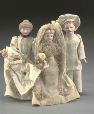 A bisque headed chef dolls' ho