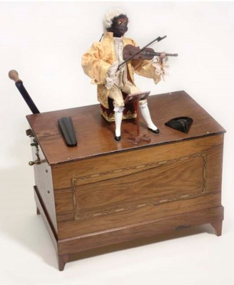 A barrel organ with monkey aut