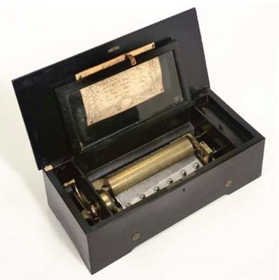 A musical box playing six airs
