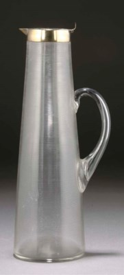 A SILVERED METAL AND RIBBED GL