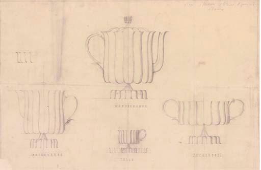 A JOSEF HOFFMANN PENCIL DESIGN