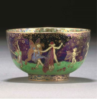 A WEDGWOOD LEAPFROGGING ELVES