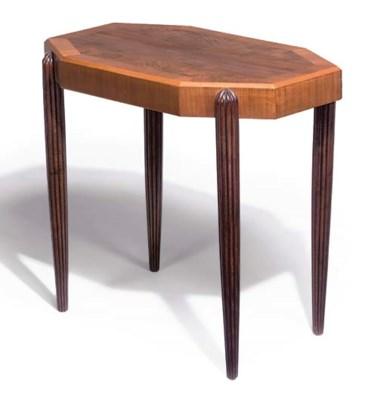 AN OCTAGONAL SIDE TABLE