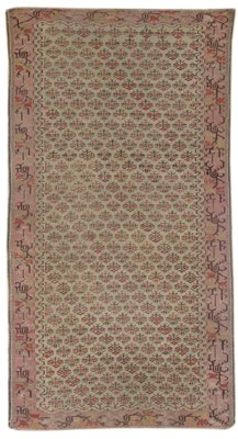 An unusual Ghiordes rug