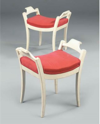 A PAIR OF SWEDISH WHITE PAINTE