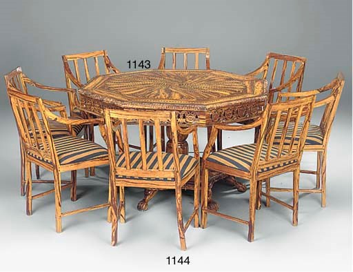 A SET OF EIGHT ARMCHAIRS