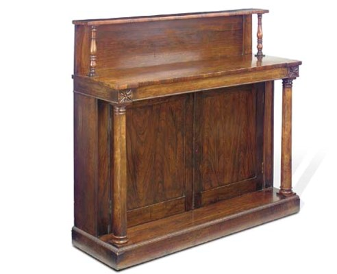 A LATE REGENCY ROSEWOOD AND SI