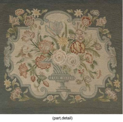 FOUR EMBROIDERED BLUE SEAT COV