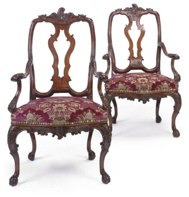A PAIR OF PORTUGUESE FRUITWOOD