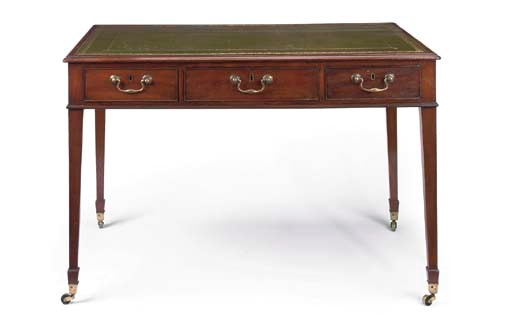 A GEORGE III MAHOGANY WRITING-