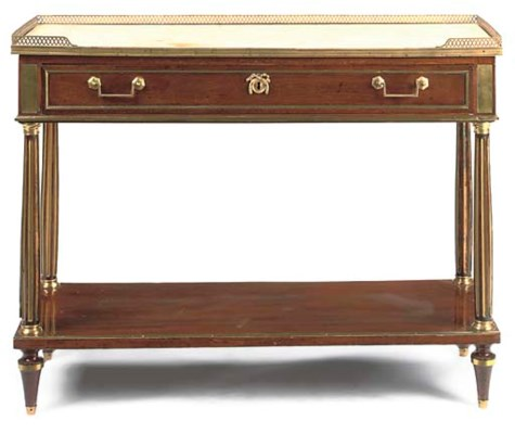 A DIRECTOIRE BRASS-MOUNTED MAH