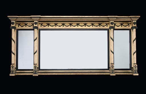 A GILTWOOD AND BRONZED OVERMAN