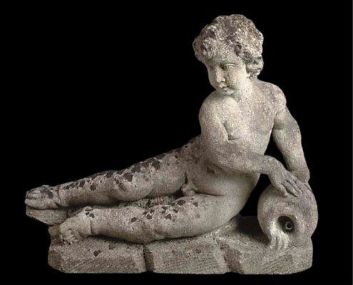 A Vicenza stone figural founta