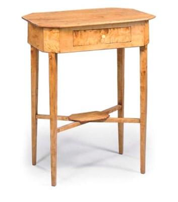 A SWEDISH BIRCH SIDE TABLE