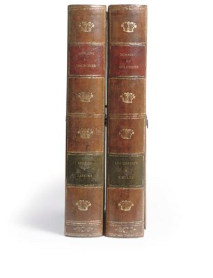 A PAIR OF LEATHER VOLUME BOUND