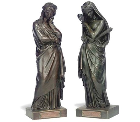 A PAIR OF FRENCH FIGURES OF CL