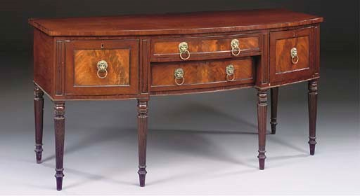 A REGENCY MAHOGANY AND EBONY L