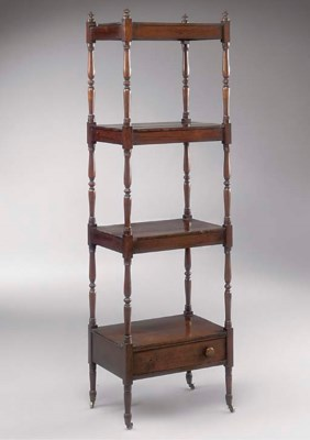 A GEORGE IV ROSEWOOD FOUR TIER