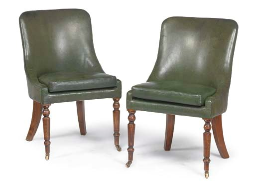 A PAIR OF STAINED BEECH AND GR