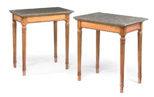 A PAIR OF ENGLISH MAPLE AND GR
