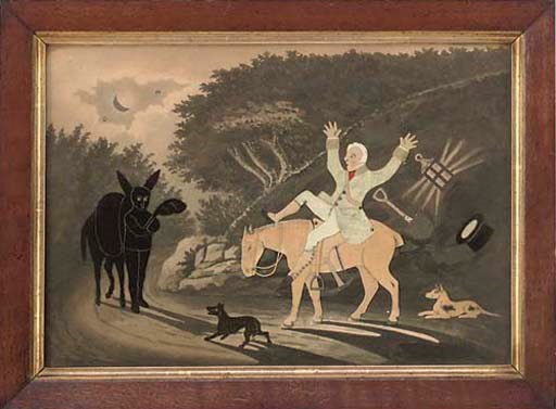 A GEORGE SMART FELT PICTURE 'T