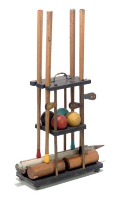 AN ENGLISH CROQUET SET