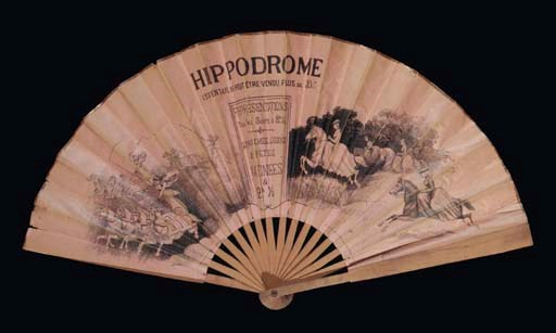 HIPPODROME, A LITHOGRAPHIC FAN