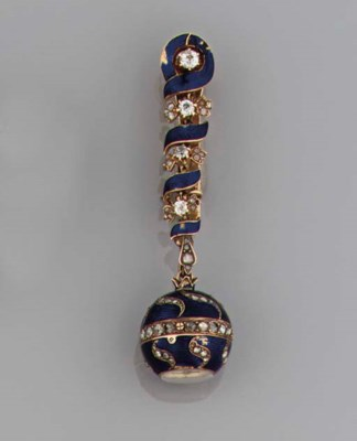 A late 19th century gold, enam