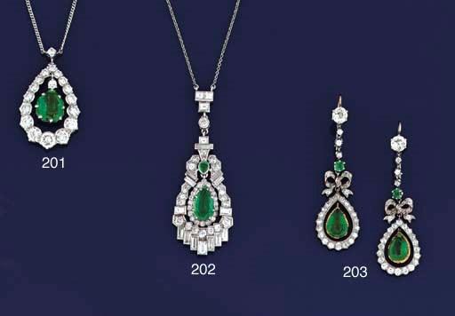 An Art Deco diamond and emeral