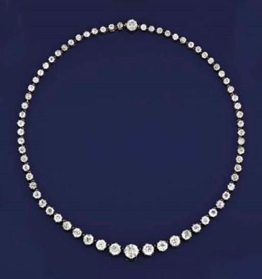 A late 19th century diamond ri
