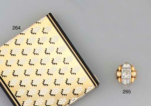 An Art Deco 18ct. gold, enamel