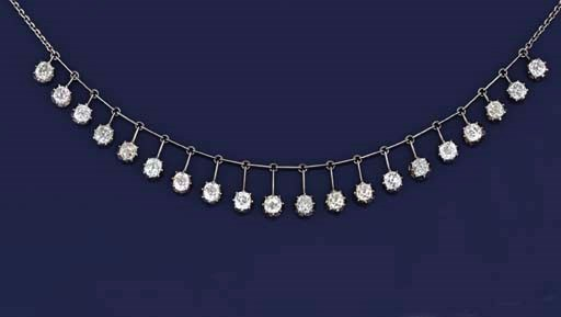 A diamond festoon necklace