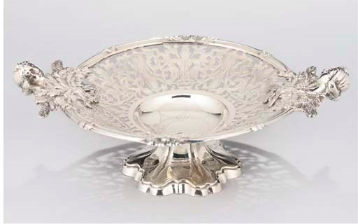 A VICTORIAN SILVER PLATED TAZZ